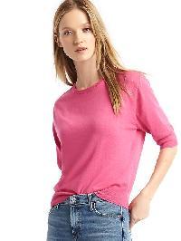 Gap Half Sleeve Easy Pullover - Shocking pink