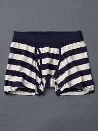 Gap Stripe Boxer Briefs - Oatmeal heather