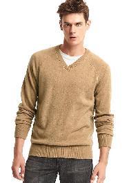 Gap Wool V Neck Sweater - Light camel