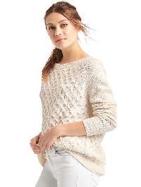 Gap Honeycomb Cable Knit Sweater - Snow cap