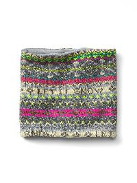 Gap Let It Snow Neckwarmer - Fairisle grey