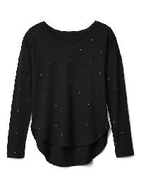 Gap Long Sleeve Hi Lo Tee - True black