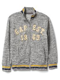 Gap Logo Mockneck Jacket - Heather gray