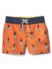 Gap Pineapple Board Shorts - Orange