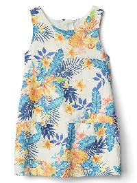 Gap Tropic Florals Chambray Jumper - Flower print