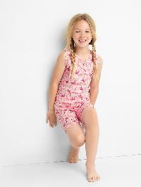 Gap Print Tank Short Sleep Set - Pink