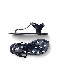 Gap Starry T Strap Jelly Sandals - Blue galaxy