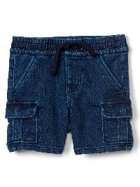 Gap Super Soft Denim Cargo Shorts - Denim