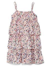 Gap Island Tiered Spaghetti Dress - Pink print