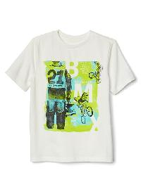 Gap Graphic Short Sleeve Tee - New off white