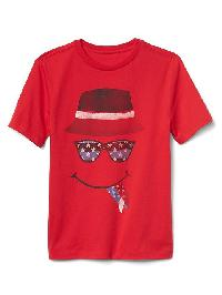 Gap Graphic Short Sleeve Tee - Pure red