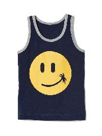 Gap Graphic Slub Tank - Elysian blue