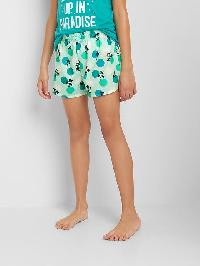 Gap Print Pj Shorts - Aqua sea 771