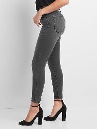 Gap Super High Rise Sculpt True Skinny Jeans - Washed black