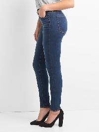 Gap Super High Rise Sculpt True Skinny Jeans - Blue black