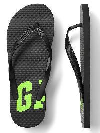 Gap Print Flip Flops - Black