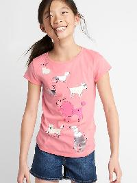 Gap Foil Graphic Short Sleeve Tee - Coral frost