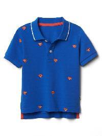 Babygap &#124 Dc Superhero Pique Polo - Bristol blue 137