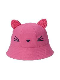 Gap Sequin Kitten Bucket Hat - Phoebe pink