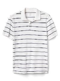 Gap Stripe Pique Polo - Navy/white stripe