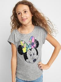 Gapkids &#124 Disney Mickey Mouse And Minnie Mouse Tropic Cap Tee - Grey heather