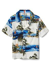 Gap Tropic Island Short Sleeve Shirt - New off white