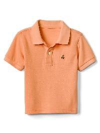 Gap Short Sleeve Pique Polo - Jos orange