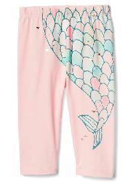 Gap Mermaid Stretch Jersey Leggings - Pink cameo