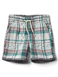 Gap Reversible Plaid Shorts - Navy/green plaid