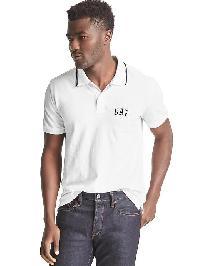 Gap Logo Short Sleeve Pique Polo - White v2 global