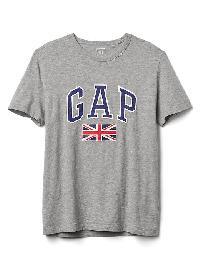 Gap Union Jack Graphic Tee - Heather grey