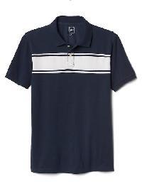 Gap Short Sleeve Stripe Polo - Tapestry navy