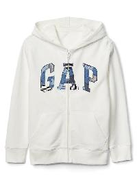 Gap Patchwork Logo Zip Hoodie - New off white
