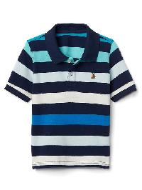 Gap Stripe Short Sleeve Polo - Elysian blue