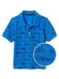 Gap Print Short Sleeve Polo - Brilliant blue
