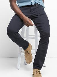 Gap Broken Twill Straight Fit Jeans - Navy