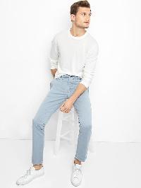 Gap Stretch Vintage Wash Skinny Fit Khakis - Dusty blue