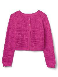 Gap Ribbed Cardigan - Pink azalea