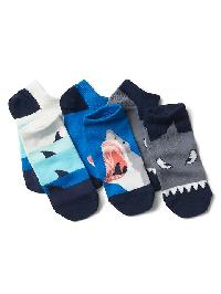 Gap Graphic No Show Socks (3 Pairs) - Shark face