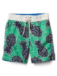 Gap Pineapple Swim Trunks - Cabo green