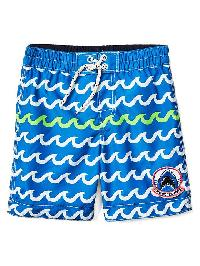 Gap Sharks And Waves Swim Trunks - Oceanic blue