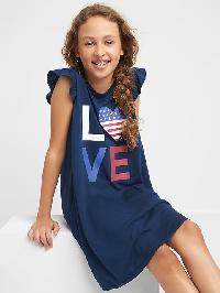 Gap Jersey Flutter Nightgown - Elysian blue