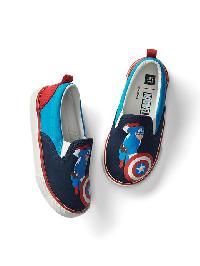 Babygap &#124 Marvel Slip On Sneakers - Captain america