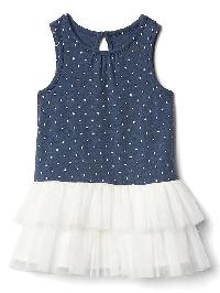 Gap Polka Dot Tutu Dress - Blue heather