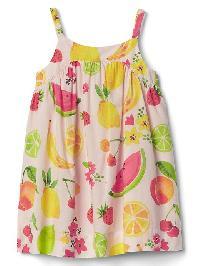 Gap Fruity Spaghetti Dress - Pink cameo