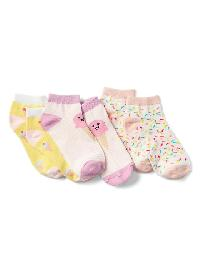 Gap Graphic Ankle Socks (3 Pack) - Ice cream