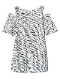 Gap Jersey Cold Shoulder Tee - Navy & white stripe