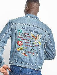 Gap Aloha Icon Denim Jacket - Light indigo