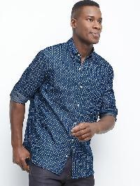 Gap Indigo Dot Twill Standard Fit Shirt - Dark indigo 2