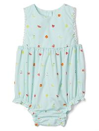 Gap Fruity Picot Trim Bloomer One Piece - Stillwater